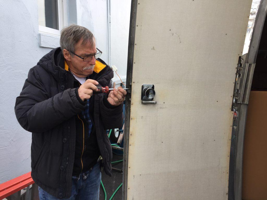 Repairing Vintage Airstream Locks Access Doors Little Green Airstream