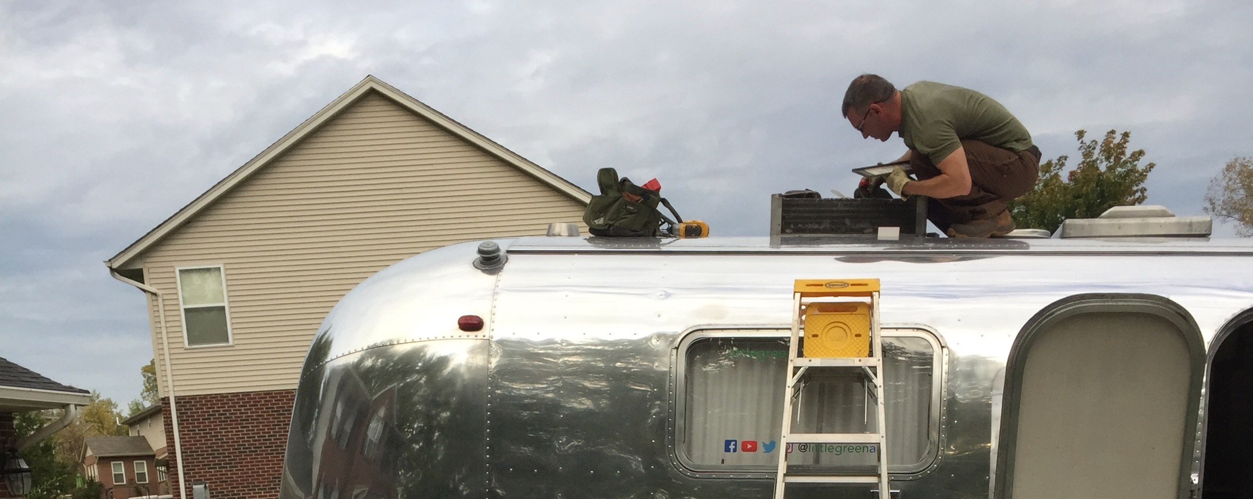 Repairing A Vintage Airstream C Part 4 Wiring Troubleshoot Camper Diagram Little Green
